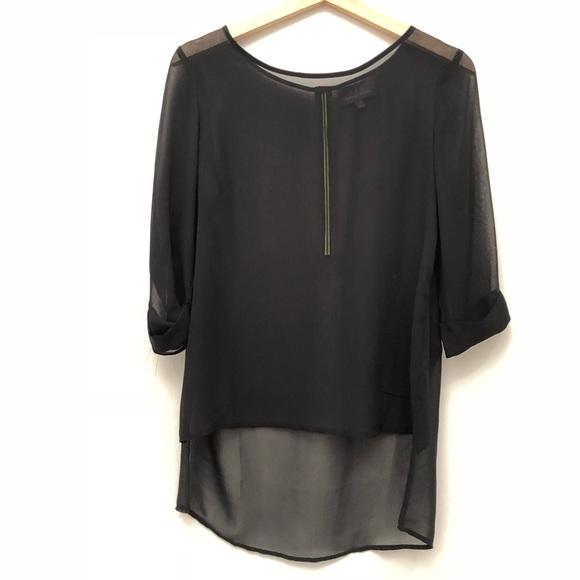 f1bb3e87666657 PJK Patterson J. Kincaid Tops | Pjk Neon Back Zip Blouse In Black ...